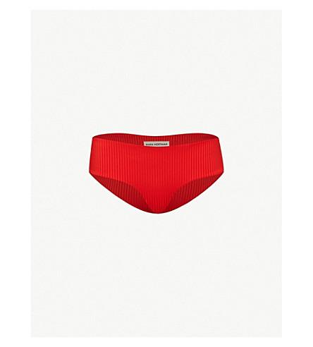 MARA HOFFMAN Nora hipster bikini bottoms (Wide rib red