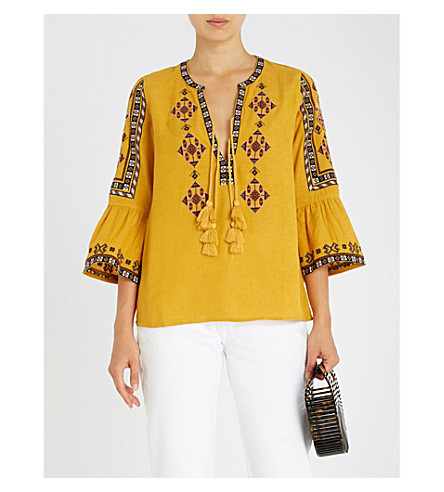 TIGERLILY Azar cotton blouse (Mustard