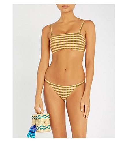 TIGERLILY Capofaro bandeau bikini top (Mustard