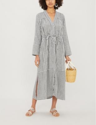 Zari striped cotton-blend jacket