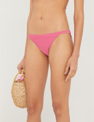 Salena double-strap high-rise bikini bottoms