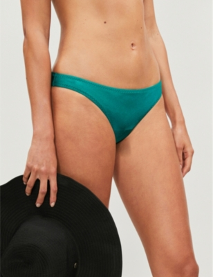 Nimes Tiger mid-rise bikini bottoms
