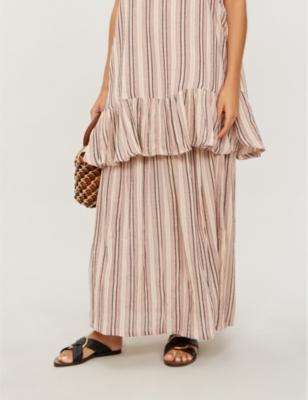 Tami striped cotton skirt
