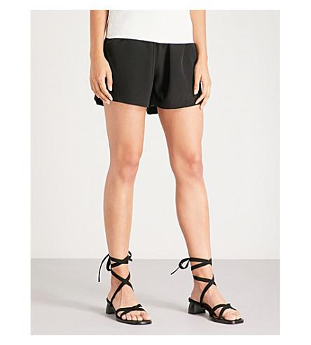 WORME 线丝绉短裤 (黑色