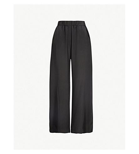 WORME 标准闪光丝绉裤 (黑色