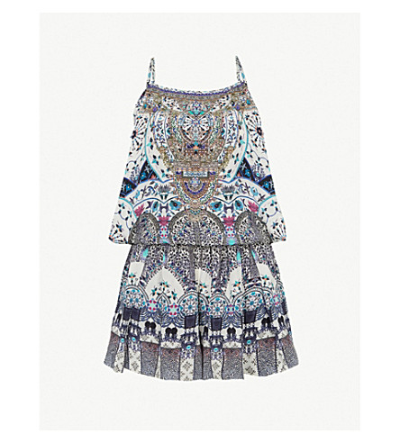 CAMILLA The Constellations floral-print silk playsuit (In+the+constellations