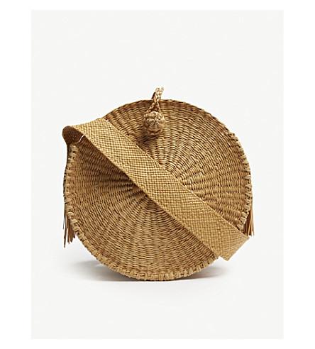 ARTESANO Pile straw shoulder bag (Cinnamon