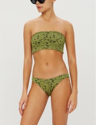 Gabrielle bandeau high-leg bikini