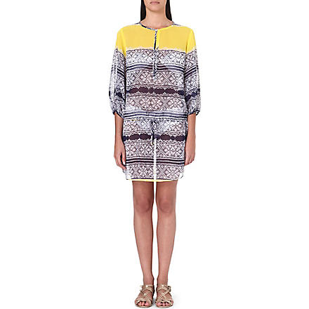 VIX Iaia Amy kaftan (Yellow/navy