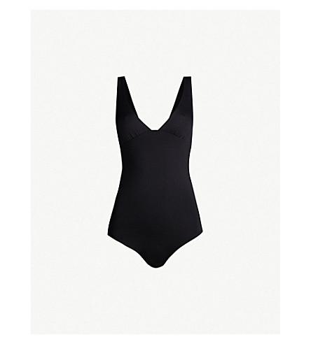 SEAFOLLY Active V-neck swimsuit (Black