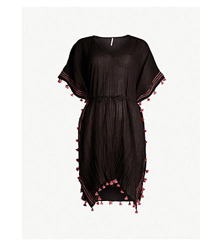 SEAFOLLY Modern Love cotton kaftan (Black