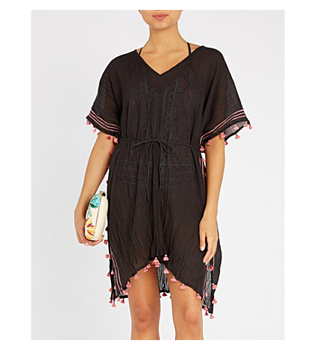 SEAFOLLY Modern Love cotton kaftan (Black