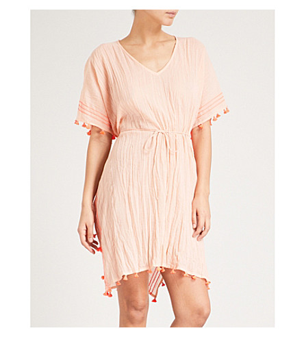 SEAFOLLY Modern Love cotton kaftan (Peach