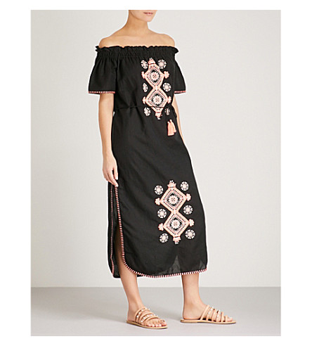 SEAFOLLY Sahara Nights linen and cotton-blend dress (Black