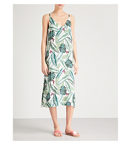 SEAFOLLY Palm Beach printed woven dress (Moss