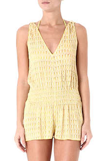 MISSONI V-neck crochet playsuit