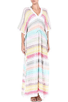 MISSONI Long crochet knit kaftan