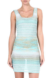 MISSONI Crochet knit mini dress