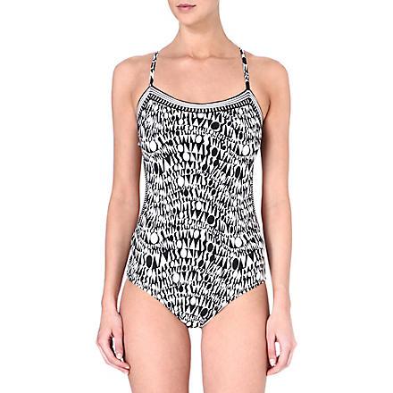 MISSONI Logo-printed swimsuit (6340 black/white