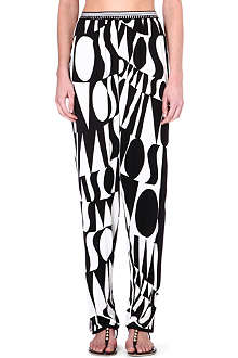 MISSONI Logo printed trousers
