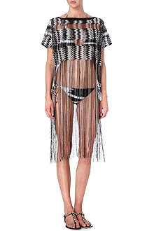 MISSONI Fringed crochet-knit cover-up