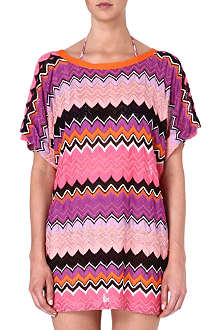 MISSONI Crochet-knit zig-zag t-shirt