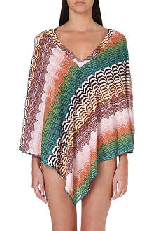 MISSONI V-neck crochet-knit poncho