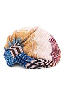 MISSONI Zig-zag lurex turban