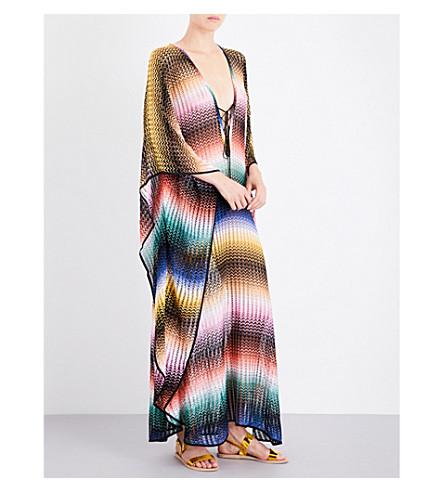 MISSONI Chevron crochet-knit maxi kaftan (2100+rete+sfumata