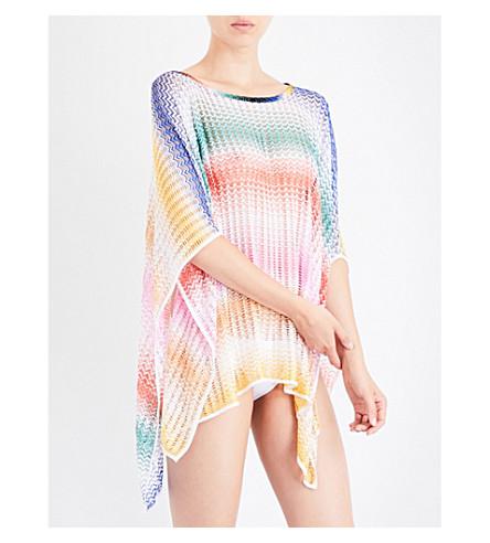 MISSONI Chevron crochet-knit poncho (2101+rete+sfumata