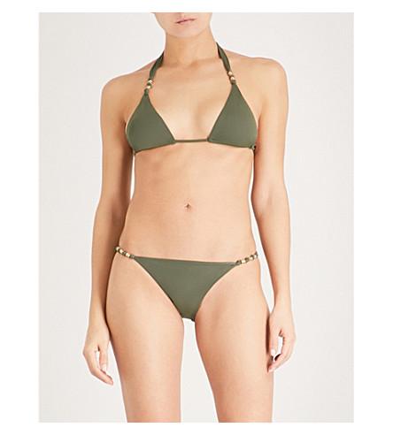 VIX Paula triangle bikini top (Military