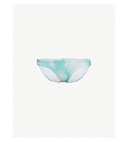 VIX Feathers Full mid-rise bikini bottoms (Turquoise
