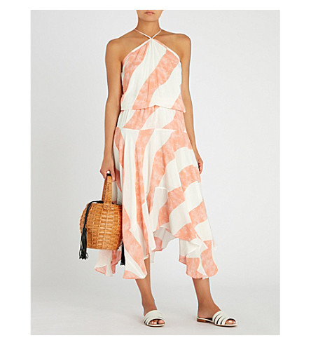 VIX Esther woven maxi dress (White/peach