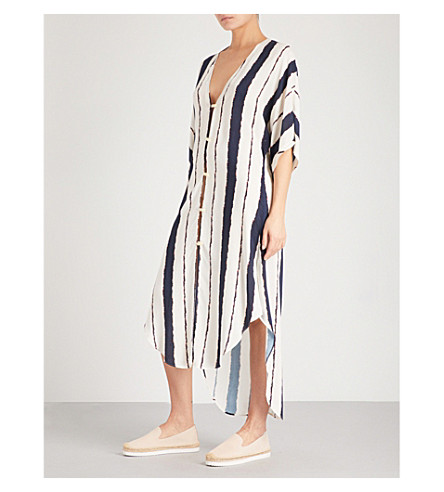 VIX Braided poplin kaftan (Navy
