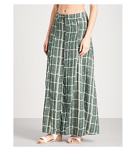 VIX Tortuga woven maxi skirt (Green
