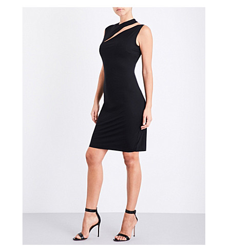 WOLFORD Pure Cut stretch-jersey mini dress (Black