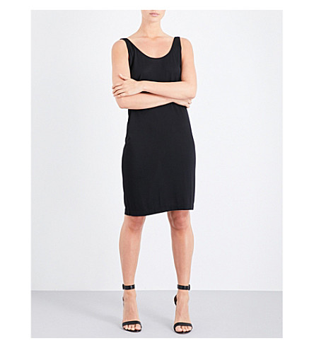WOLFORD Shiny lace-up knitted dress (Black
