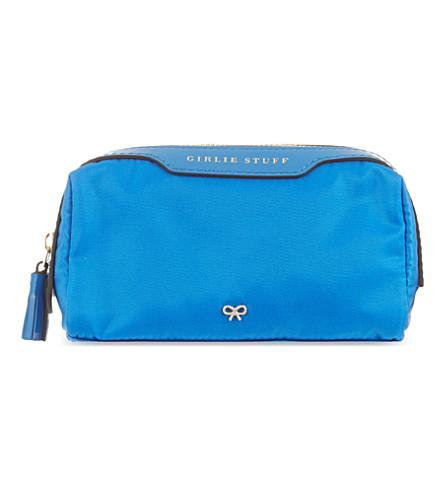 ANYA HINDMARCH Girlie Stuff wash bag (Cobalt