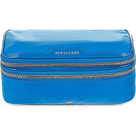 ANYA HINDMARCH Jewellery pouch (Cobalt