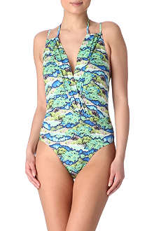 MATTHEW WILLIAMSON Electric Bay wrap swimsuit