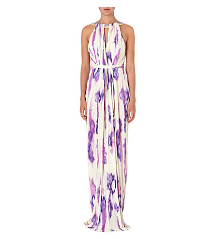 MATTHEW WILLIAMSON Tie-dye jersey dress (Lilac