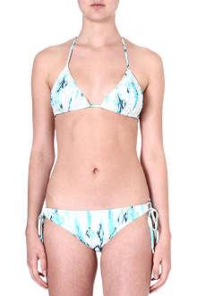 MATTHEW WILLIAMSON Tie-dye triangle bikini