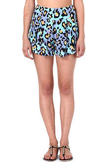MATTHEW WILLIAMSON Leopard silk shorts