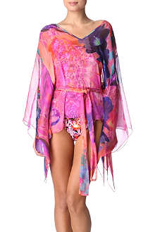 MATTHEW WILLIAMSON Acid floral print kimono top