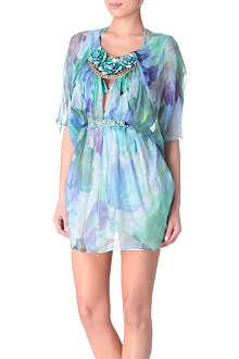 MATTHEW WILLIAMSON Acid floral beaded kaftan