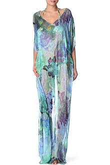 MATTHEW WILLIAMSON Acid floral long kaftan