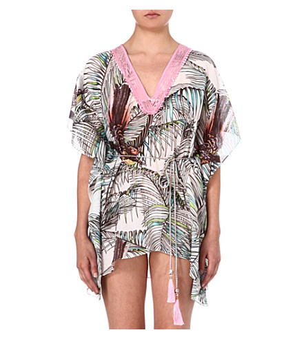 MATTHEW WILLIAMSON Song Bird short kaftan (White