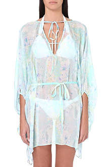 MATTHEW WILLIAMSON Blossom Snake printed silk kaftan