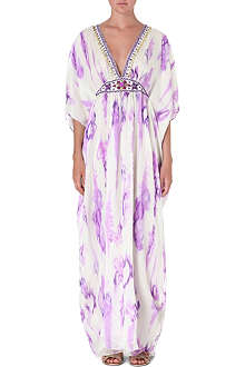 MATTHEW WILLIAMSON Tie-dye silk kaftan