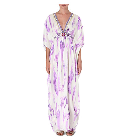 MATTHEW WILLIAMSON Tie-dye silk kaftan (Lilac